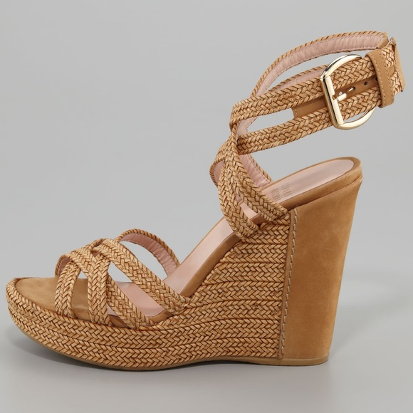 STUART WEITZMAN Reins Braided Wedge Sandal